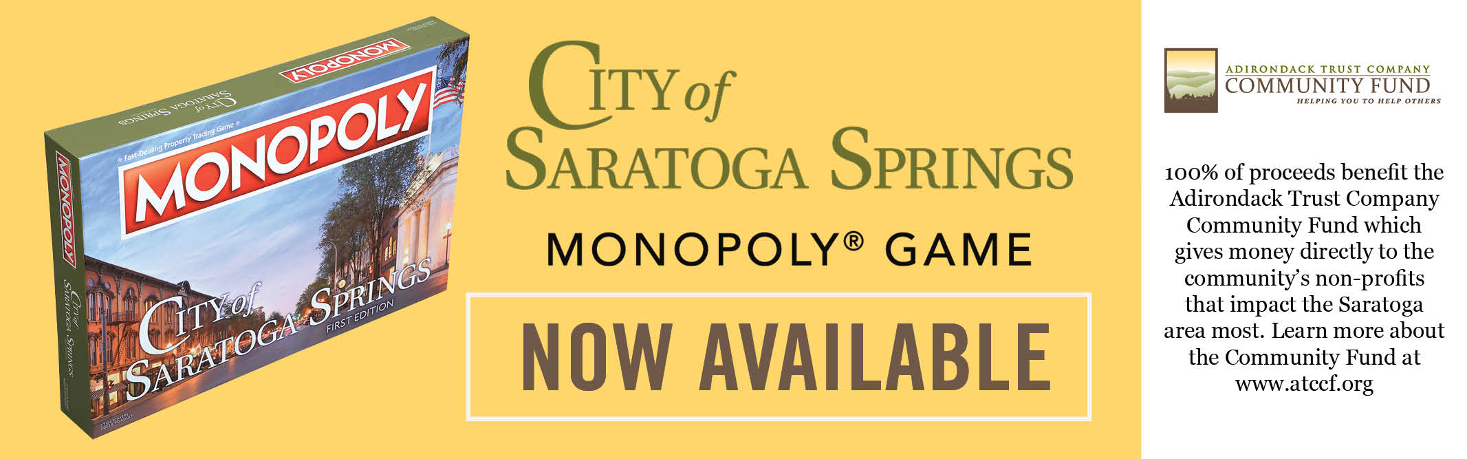 City of Saratoga Springs Monopoly Game