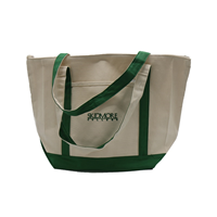 Cotton Canvas Zippered Tote