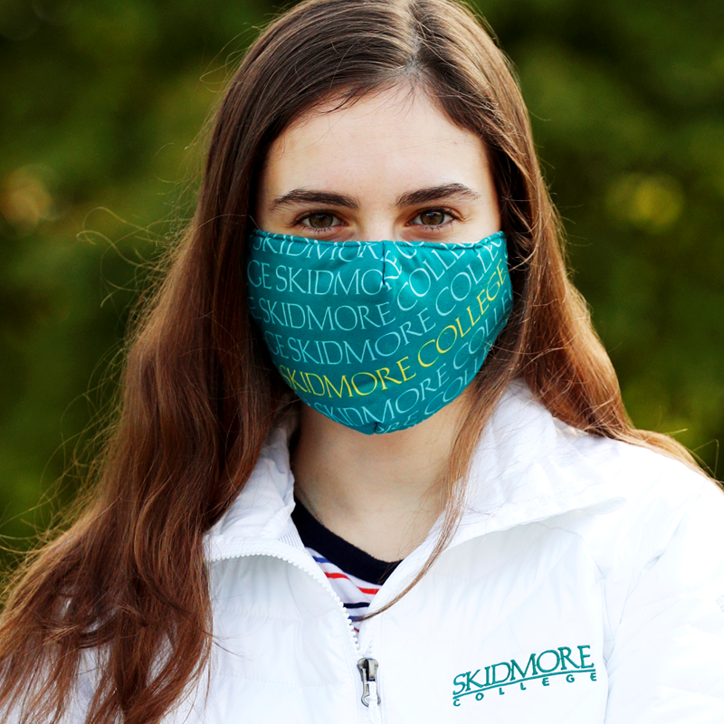 Skidmore College Fabric Mask Imprinted (SKU 1003915156)
