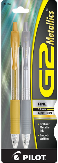 Pen G2 Metallic Gold Silver